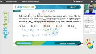 YGS Kimya Dersi Kimyasal Değişimler Soru Çözümü İzle Part 2