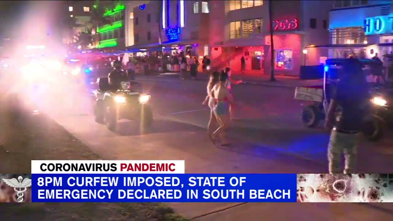 Miami sets earlier curfew after massive spring break crowds, fights