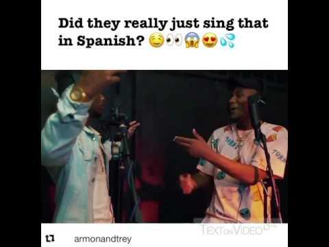 Armon & Trey MASHUP|| Despacito (Spanish) & Slippery ONLY!
