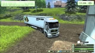 Farming simulator 2013 Trasporto lana con Man tgx e semirimorchio krone