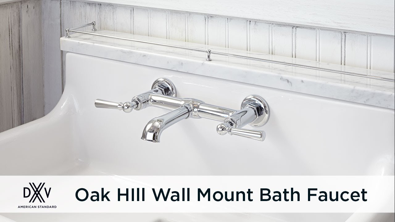 Oak Hill Wall Mount Faucet by DXV - YouTube