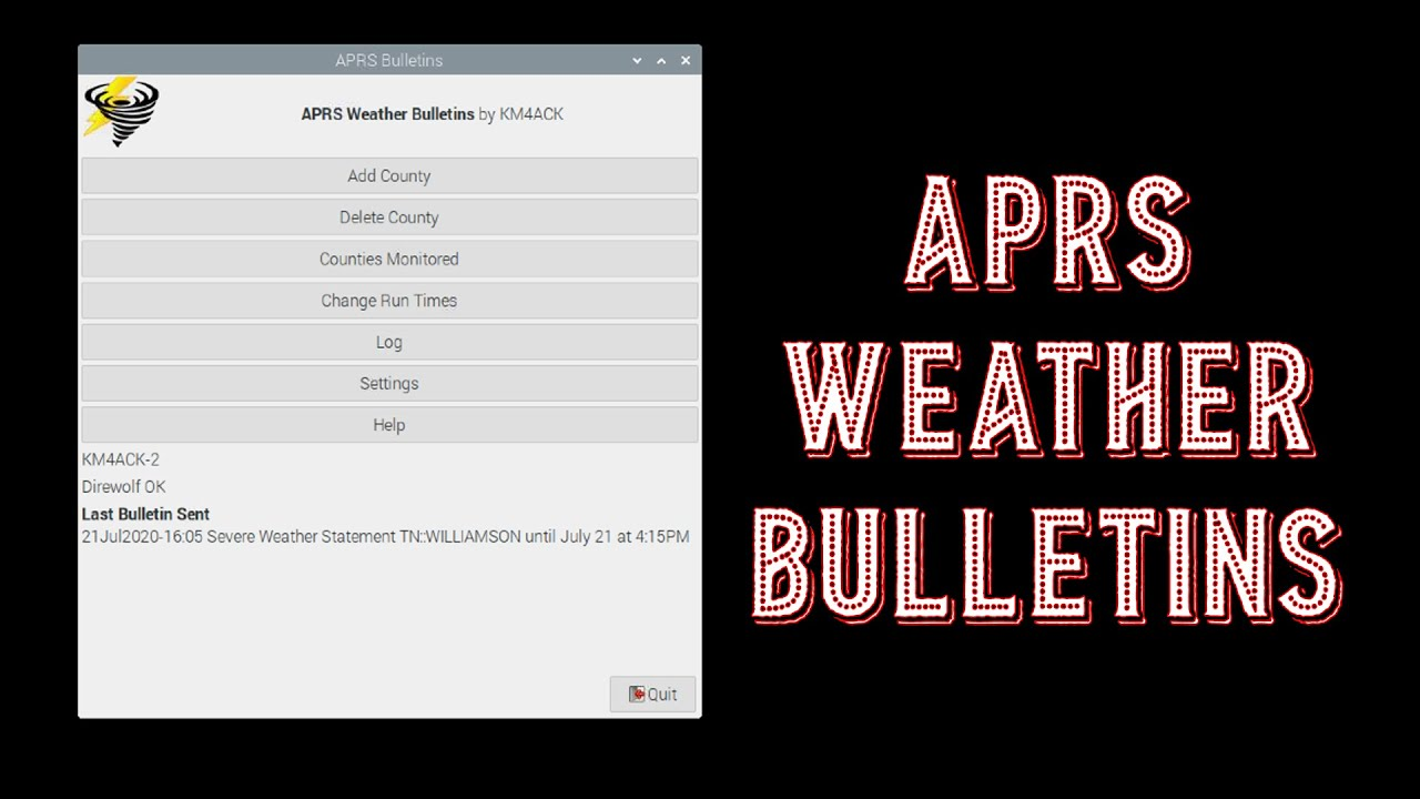 Download APRS Weather Bulletins