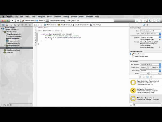iOS Development with Swift Tutorial - 23 - Drawing with Core Graphics
