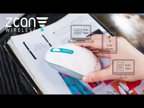 Zcan Wireless - The World's 1st WIRELESS Scanner Mouse