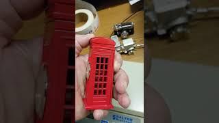 MINIATURE BRITISH PHONE BOOTH MINI CLOCK