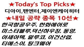 디아이, 팬엔터, 제이엔케이히터, 한국항공우주, 한화에…