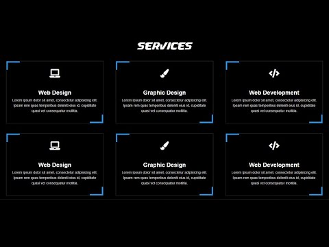 Responsive Services Section Using HTML & CSS | Tutorial