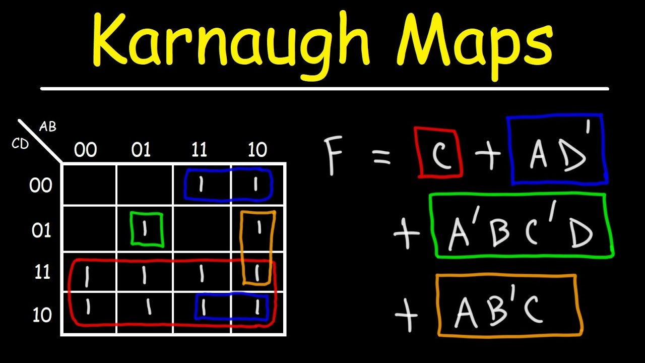 Introduction to Karnaugh Maps - Combinational Logic Circuits, Functions, &  Truth Tables - YouTubeYouTube