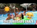 Doing My Makeup In A Pool Full Of Kids !! | TOO FUNNY !