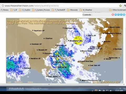 "Post Melbourne Earth Quake / Radar ""Interference"" Image"