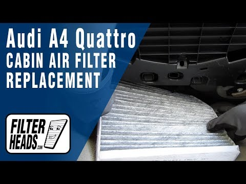 How To Replace Cabin Air Filter Audi A4 Quattro Youtube