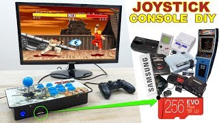 Joystick Console Raspystation HOW TO MAKE - All retro console in ONE
