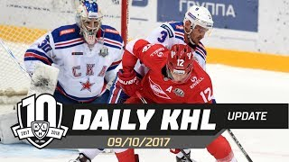 Daily KHL Update - October 9th, 2017 (English)