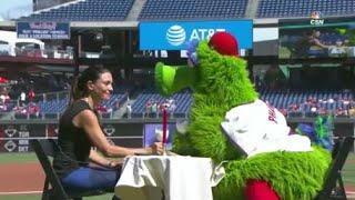 MLB Mascots Flirting Compilation