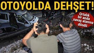 Bursa İnegöl'de Zincirleme Trafik Kazası, 34 Araç Birbirine Girdi, Ölü ve Yaralılar Var