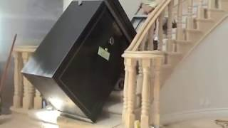 Moving A Huge 800lb. Gun Safe Upstairs In Los Angeles