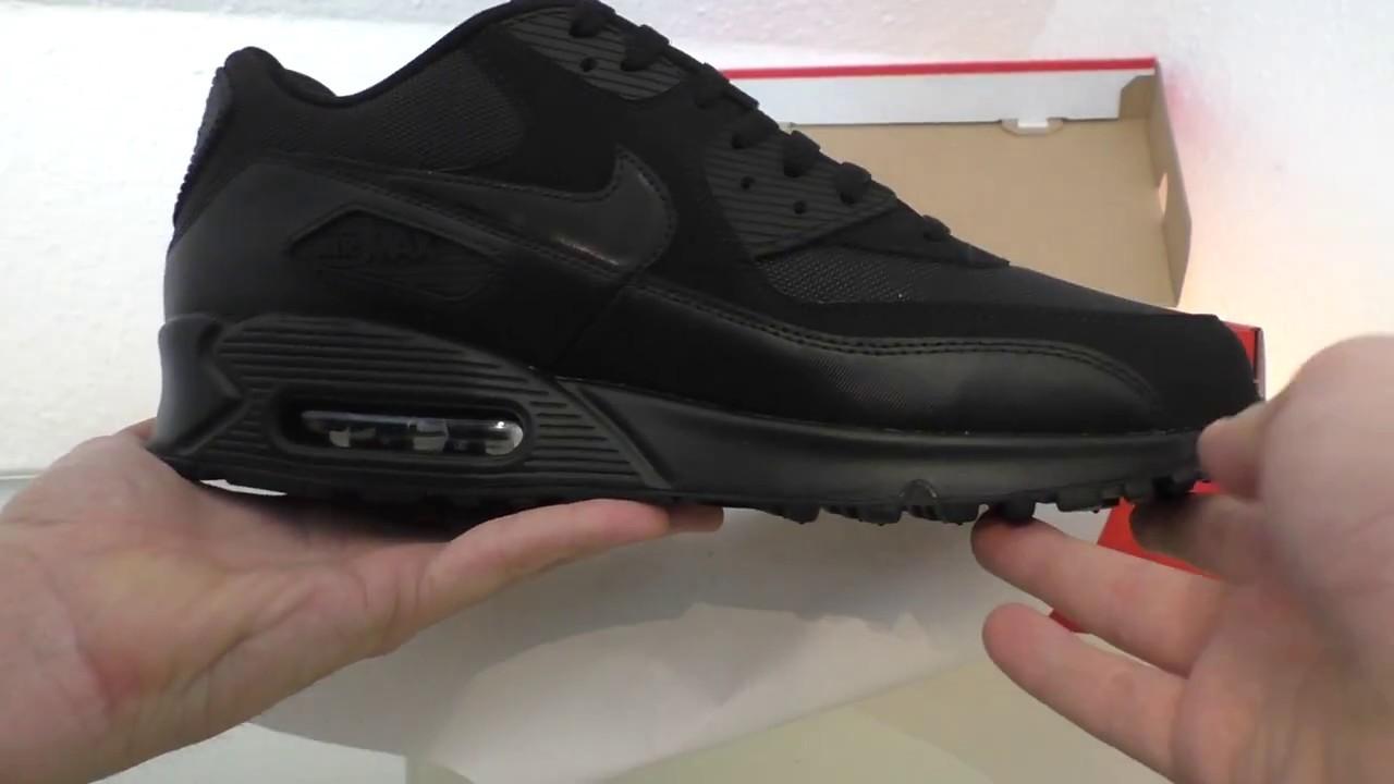 many fashionable quality authentic quality Nike Airmax 90 Essential Black / Black - Black - Black - YouTube