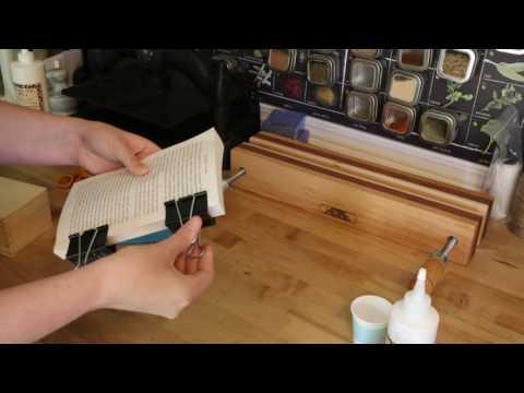 Binding loose leaf sheets using the double fan method