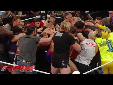 Never-before-seen footage of the brawl between Undertaker and Brock Lesnar: July 25, 2015