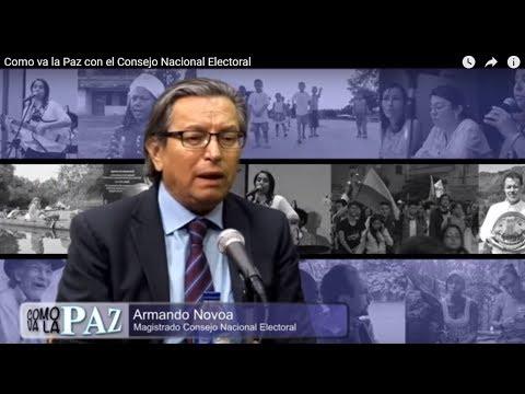 Como va la Paz con el Consejo Nacional Electoral