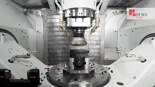 CHIRON FZ 16 S five axis with HSK 100 I Machining (EN)