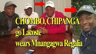 ZIMBABWE LATEST NEWS ; CHOMBO, CHIPANGA, go Lacoste, Wears Mnangagwa Regalia