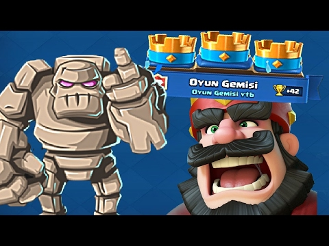 DEFENCE AGAINST GOLEM !!!!! IN CLASH OF ROYALE!!!!!! !!!FINALLY !!!!