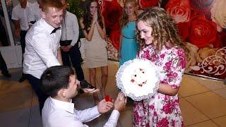 Трогательный момент! На свадьбе подруги Анастасии, Татьяне сделал предложение ее молодой человек!