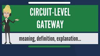What is CIRCUIT-LEVEL GATEWAY? What does CIRCUIT-LEVEL GATEWAY mean? CIRCUIT-LEVEL GATEWAY meaning
