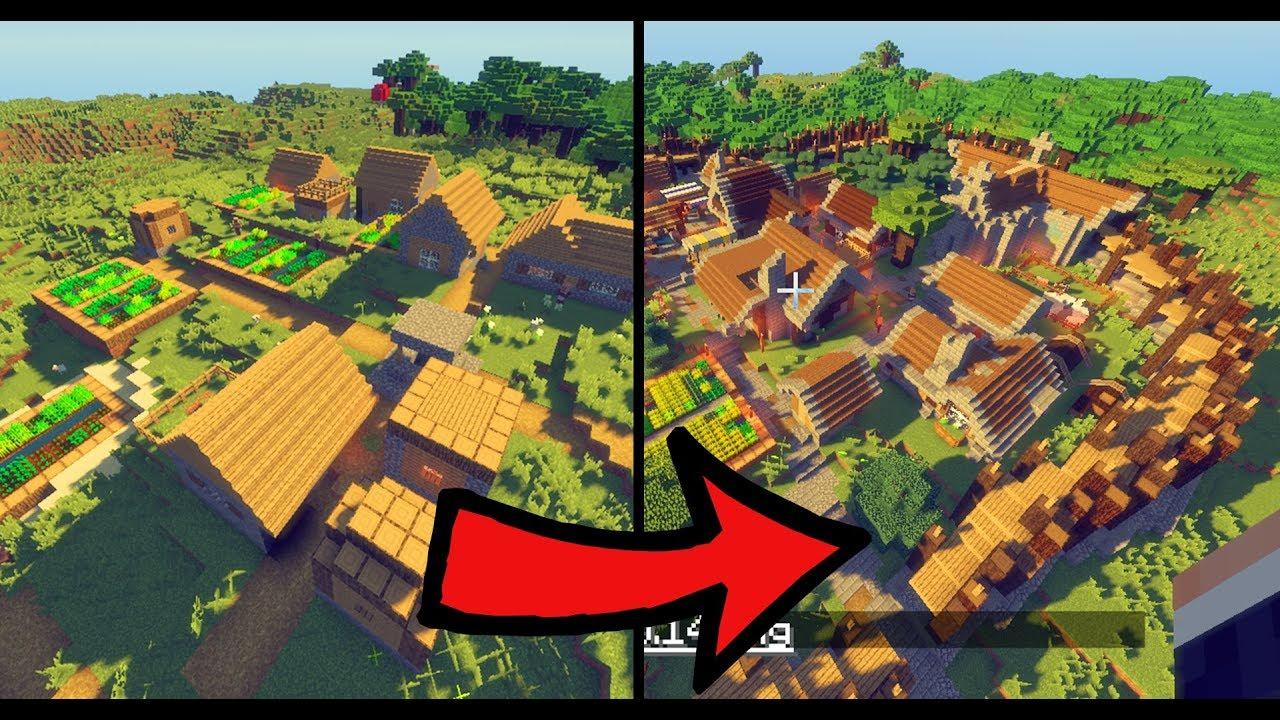 Minecraft Villager Dorf Komplett Krass Umgebaut Youtube