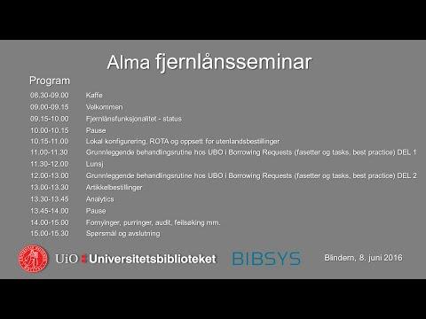 Alma fjernlånsseminar