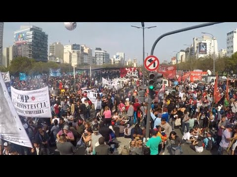 Argentinians protest austerity as government seeks debt restructuring