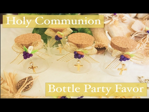 First Holy Communion Bottle Party Favor Decorations For Boys And
