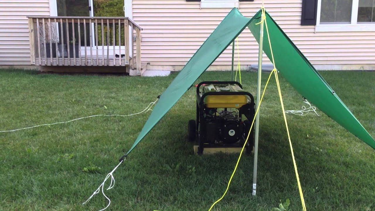 Simple Portable Generator Shelter : Portable generator tarp shelter youtube