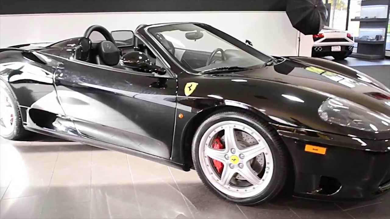 2003 Ferrari 360 Modena Spider Gloss Black LT0571   YouTube