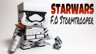 Star Wars F.O Stormtrooper Paper Crafts tutorial !