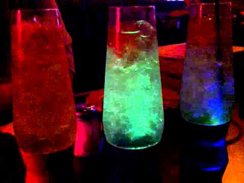Lava Lamp drinks at The Rock