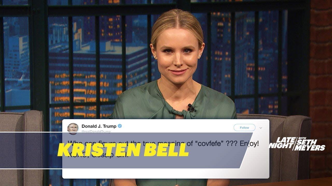Kristen Bell Reads Donald Trumps Tweets As Gossip Girl Youtube