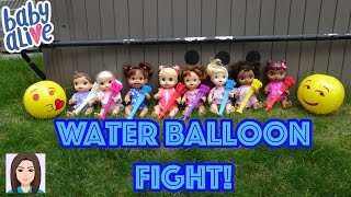 Baby Alive Water Balloon Fight! Babies Fight Back!