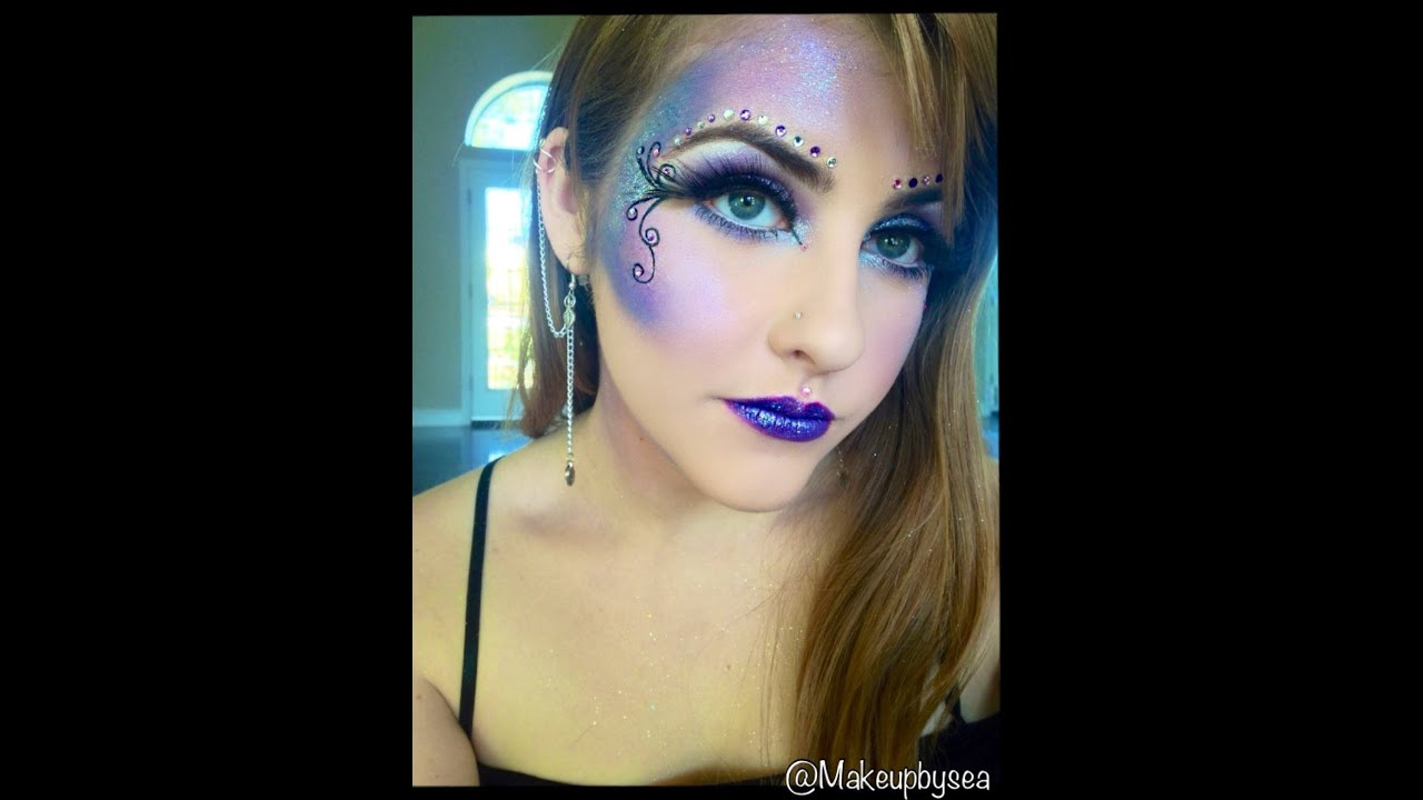 Purple fairy makeup tutorial  YouTube - Purple Halloween Makeup Ideas
