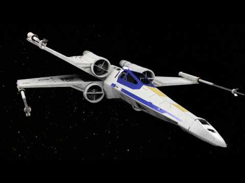 Star Wars X-Wing Modeling and Rendering - Fusion 360
