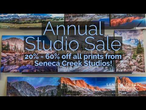 2018 Annual Studio Sale: Wyoming Landscape Fine Art Photography from Seneca Creek Studios