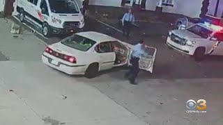 Video Shows Police Officer Getting Caught On Car Door Trying To Stop Looters In Tacony