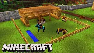 Minecraft: O NOVO ''ESTABULO'' dos CAVALOS! - Sobrevivendo com Lipão #95