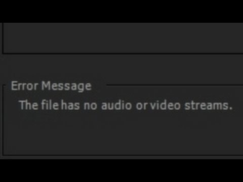 How to fix Importing Error in Adobe Premiere Pro (Footage from OBS)