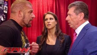 Raw - Triple H can\'t convince Stephanie and Mr. McMahon to let him compete: Raw, June 3, 2013