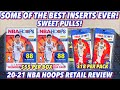 *SOME OF THE BEST INSERTS EVER!* 2020-21 Panini NBA Hoops Basketball Retail Blaster & Fat Pack Break