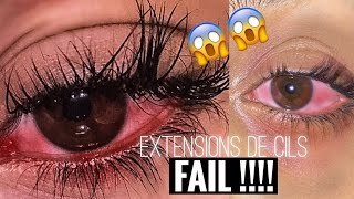 J'AI PERDU TOUS MES CILS ! Extensions de cils FAIL