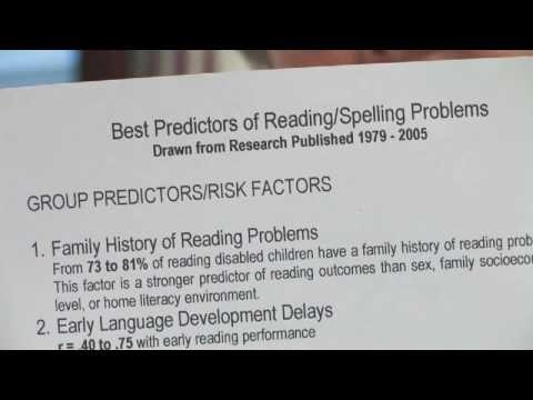 Dyslexia: Diagnosing Dyslexia