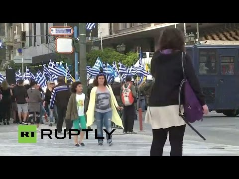 LIVE: Anti-refugee protest held in Piraeus